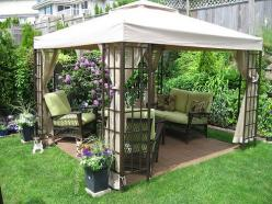 Cool-Backyard-Ideas-with-Gazebo | VivaLaVintage - For Your Home: Outdoor Ideas, Backyard Ideas, Small Backyard, Patio, Backyardideas, Gazebo, Garden, Backyard Designs, Backyards