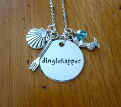 Dinglehopper necklace inspired by Little Mermaid.  Lol!!  This is a inside  joke with my friends.: Little Mermaids, Mermaid Dinglehopper, Mermaid Necklace, Dinglehopper Necklace, Ariel Inspired, Mermaid Gift, Disney Movie