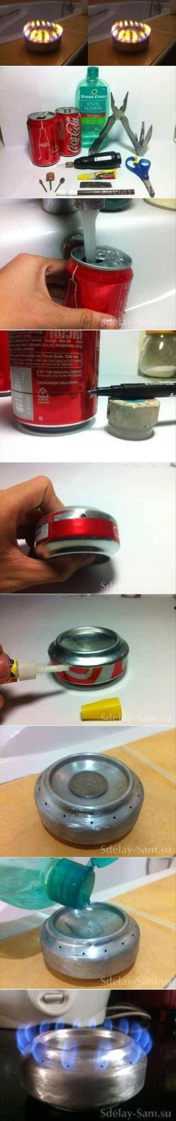 DIY alcohol stove from a soda can: Diy'S, Camping, Diy Craft, Minis, Craft Ideas, Diy Projects, Crafts