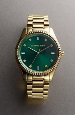Emerald Watch: Bracelet Watch, Gold Watch, Kors Blake, Michael Kors Watch, Handbags Michael Kors, Mk Watch, Watches, Michaelkors, Emerald Michael