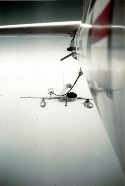 """F-100 Super Saber taking fuel from a KC-97 Tanker.  The """"Hun"""" was from the 353rd Fighter Squadron, Myrtle Beach AFB, SC.: Flying, Aviation, Aircraft, Planes"""