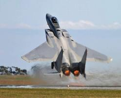 F-15 Eagle Short Takeoff In Afterburner #f15eagleshort#: Aviation, Military Aircraft, Mcdonnell Douglas, Airplane, F15, Fighter Jet, Eagles, Planes