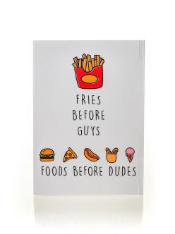 Foods Before Dudes Notebook – NYLON SHOP: Food Ideas, Gift Ideas, Dudes Notebook, Notebooks, Food ️, Fast Food, Birthday Gifts