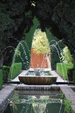 ✕ Fountain, Alhambra / #garden #fountain #architecture: Alhambra Fountain, Waterfeatures, Water Features, Fountain, Granada Spain, Gardens, Water Fountains, Garden Fountains, Fountain Garden