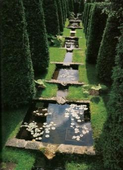 from the book Greater Perfection: The Story of the Gardens at Les Quatre Vents, by Francis H. Cabot. | Michael Trapp: Idea, Secret Garden, Dream, Water Features, Gardens, Water Garden