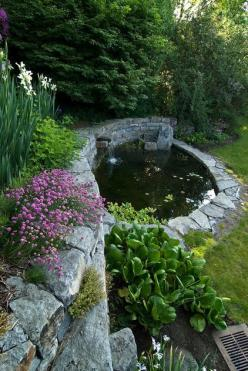 Gardens:  #Garden #pond.: Ponds, Idea, Waterfeatures, Water Features, Gardens, Landscape, Water Garden