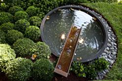 Gardens Inspiration - Paal Grant Designs in Landscaping - Australia | hipages.com.au: Gardens Outside Patio, Water Fountain, Gardens Gardens, Paal Grant, Australia Garden Design, Border Gardens Inspiration