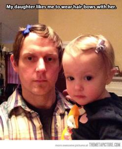 He's doing it right...Best dad ever!!!: Daughter, Funny, Hair Bows, Dads, Kid