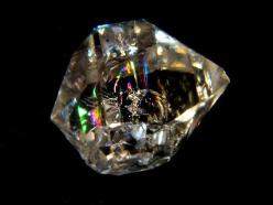 Herkimer Diamond - Quartz but called diamond because of its sparkle.  Naturally grows like this and is often left as is, no cutting and polishing, in jewelry.: Gems Minerals Crystals, Crystals Rocks Gems Minerals, Crystals Minerals Gemstones, Diamonds, Cr