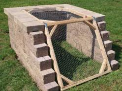 How to Build A Compost Bin. I like the idea of an angled opening. Thinking about constructing the compost bin into a hillside.: Attractive Compost, Compost Bins, Bin Ideas, Weekend Projects, Garden Ideas, Projects With Bricks, Brick Compost, Backyard, Diy