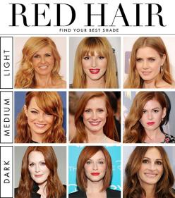 How to Find Your Best Shade of Red Hair - Daily Makeover...if you want to be a red-headed for surprising someone XOXO Andy: Haircolor, Emma Stone, Shades Of Red, Hairstyle, Redhead, Red Hair Shades, Redhair, Hair Color, Red Head