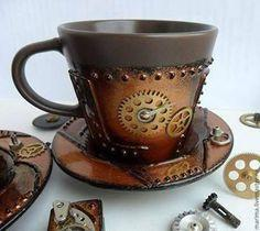 I'd drink coffee in that... heck, I'd drink bourbon in that.: Idea, Steampunk Teacup, Teas, Steampunk Cup, Steam Punk, Coffee Cups, Tea Cups, Coffee Mugs