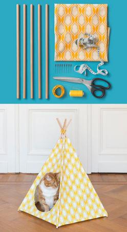 I am comforted to know I am not the only cat owner to have thought of this.: Baby Teepee Diy, Pet Teepee Diy, Kitty Cat, Crazy Cat, Diy Cat Teepee, Diy Craft, Thought, Cat Teepee Diy