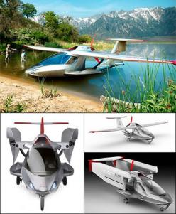 Icon A5 - Convertible sea plane that can also drive around on land.: Stuff, Airplane, Icon Plane, Icons