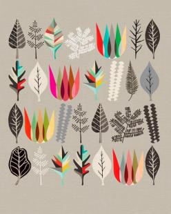 Image of Botanical Assembly No: 1: Graphic Design, Inspiration, Pattern, Color, Art, Illustration