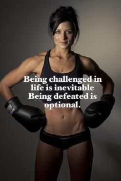 It's up to you, let it defeat you or keep fighting, and you will succeed!! It isn't life if it isn't a challenge: Inspiration, Challenge, Life, Truth, Workout Motivation, Exercise, Fitness Quotes, Fitness Motivation