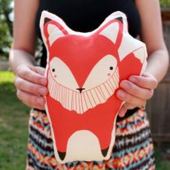 just discovered what to do with tee's i don't wear but have great art - shaped pillows! (Plush Fox Pillow via Gingiber on Etsy.com): Decor, Idea, Baby, Foxes, Pillows, Kid, Red Fox