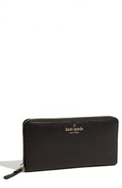 kate spade new york 'cobble hill - lacey' zip around wallet available at #Nordstrom: Wallet Kate Spade, Black Wallets, Kate Spade Wallet Black, York Cobble, Kate Spade Black Wallet, Bags Kate Spade, Kate Spade Bag Black, Cobble Hill, Kate Spade Wa