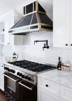 Kitchen Lessons: Stealth Glamour | Lonny June 2014: Stove, Interior, Subway Tile, Kitchen Ideas, White Kitchens