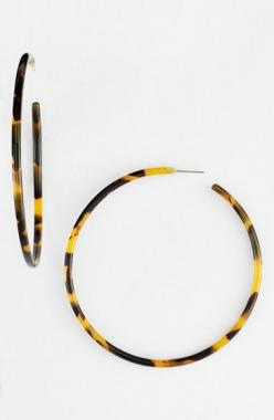 L. Erickson | 2014 Gift Guide for Her | The English Room: Tortoiseshell Hoops, Nordstrom, Erickson Jumbo, Earrings Hoop, Tortoise Shell Hoops, Hoop Earrings, Closet, 2014 Gift