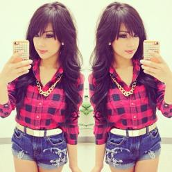 long hair with bangs! and her make up is pretty!: Hairstyles, Fashion, Hair Styles, Makeup, Long Hair, Outfit, Bangs, Haircut