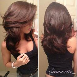 Long, layered haircut. Wished I had the patience to grow my hair this lenght: Haircuts, Layered Cut, Medium Length, Hairstyles, Hair Styles, Hairdos, Hair Cut, Hair Color