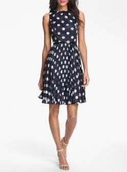 Love for a bridesmaid! Polka Dot Fit & Flare Dress: Fit Flare Dress, Polka Dots, Dot Fit, Style, Adrianna Papell, Papell Burnout, Polkadots, Burnout Polka, Polka Dot Dress