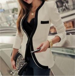 Love that jacket. Black and white.: Fashion, White Blazers, Style, Clothes, Black And White, Outfit, Jackets