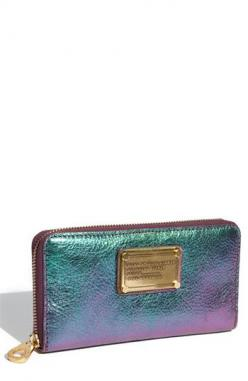 Marc by Marc Jacobs Classic Q Wallet in Napa Irridescent, where have you been all my wallet carrying life?: Wallets, Fashion, Style, Vertical Zippy, Jacobs Classic, Marc Jacobs, Napa Iridescent, Accessories