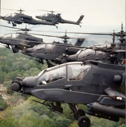McDonnell Douglas , AH-64A, Apache. Looks like a swarm of locusts. Really big, badass locusts.: Army, Helicopter, Aviation, Ah 64 Apache, Aircraft, Chopper, Planes, Military