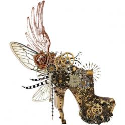 McQueen.  So much steam-punk condensed in one design! Unfortunately the whole is worth less than the sum of its parts.: Alexander Mcqueen, Steampunk Shoes, Crazy Shoes, Punk Boot, Amazing Shoe, Designer Heel