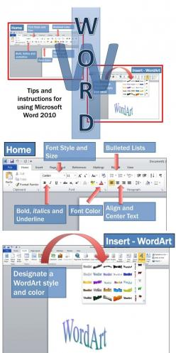 •	Microsoft Word 2010 is a software application that allows the user to perform word processing and create beautiful and engaging documents.  •	This lesson includes instructions along with screen shots and text bubbles to demonstrate how easy it is to cre