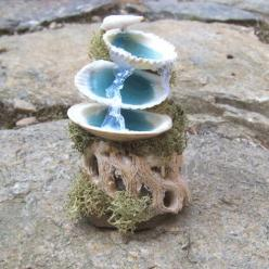 Miniature MERMAID FOUNTAIN Fairy Garden Furniture Beach Decor Gardener Gift. $25.00, via Etsy.: Decor Gardener, Mermaid Fountain, Fairy House, Fairy Gardens, Garden Furniture, Dollhouse Miniature, Miniature Mermaid, Fairies Garden
