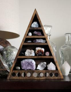 Moon Phase Large Crystal and Mineral collection I just said I wanted to add to my rock collection.: Decor, Crystals, Ideas, Moon Phases, Shelves, Display, Stones, Rocks, Mineral Collection