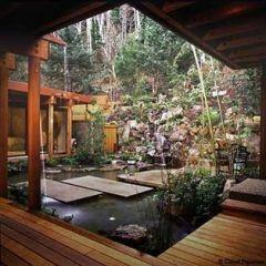 Ok I absolutely NEED this in my backyard!: Idea, Garden Design, Water Features, Dream, Gardens, House, Backyard, Water Garden