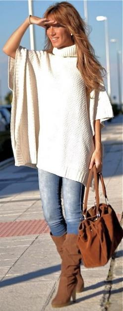 Poncho: Sweater, Style, Fall Fashion, Fall Outfit, Ponchos, Fall Winter