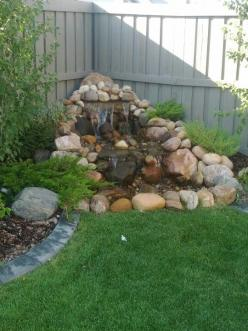 Pondless waterfall...maybe we could just dig up that little pond and fix it like this???: Water Feature, Diy Pondless Waterfall, Garden Ideas, Water Gardens, 540 721 Pixels, Ponds Waterfalls, Pond Waterfalls, Water Fall, Waterfalls Pond