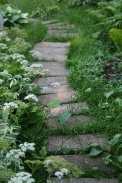 Regardless of the plant material, I love the plantings on both sides of this pathway to ground it. Looks like it has always been there.: Gardenpath, Secret Gardens, Garden Pathways, Garden Paths, Flickr Linderrox, Garden, Stepping Stones