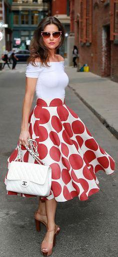 Retro Polka Dot Dress°°