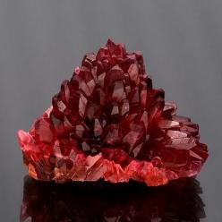 Rhodochrosite cluster with orangy red scalehedron crystals in a radiating pineapple formation.: Precious Stones, Spectacular Rhodochrosite, Rocks Gems, Gem Stones, Mineral, South Africa, Crystals Gemstones, Crystals Rock, Crystals Fossils Gemstones