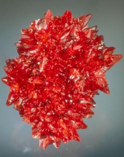 Rhodochrosite. N'Chwaning Mine, Kuruman, Northern Cape Province, South Africa. Houston Museum of Natural Science. #red #crystal: Crystals Minerals, South Africa, Minerals Gems Crystals, Crystals Gems Rocks, Gemstones Minerals Crystals, Crystals Gemstone M