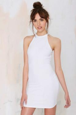Rise of Dawn Sunrise Ribbed Bodycon Dress - White: Sunrises, Sunrise Ribbed, Cocktail Dresses, Dresses Everyday, Nasty Gal, Ribbed Bodycon