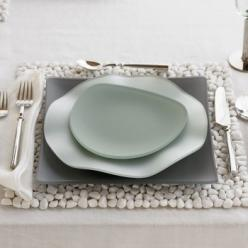 Sea glass dishes ... love the little one and the square ... the other not so much.: Oceana Seaglass, Beach House, Idea, Place Setting, Dishes, Table Setting, Sea Glass, Design, Seaglass Dinnerware
