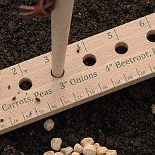 Seed and Plant Spacing Ruler-a good DIY reuse for an old wooden one, too. I NEED to make one of these!: Idea, Plant Spacing, Plants, Gardening, Seeds, Spacing Rule, Planting Ruler