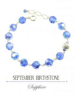 September Birthstone || A gift of Sapphires symbolizes truth and faithfulness || http://southpawonline.com/collections/view-all-items/products/september-birthstone-sapphire-bracelet: Paw Studios, South Paw, Bracelets, Sapphire, Studios Jewelry