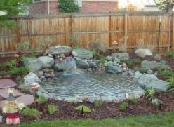 Small Water Feature Ideas | The rocks and gravel effectively function as a large biological filter ...: Pond Ideas, Gardening Ideas, Garden Ponds, Gardens, Water Garden