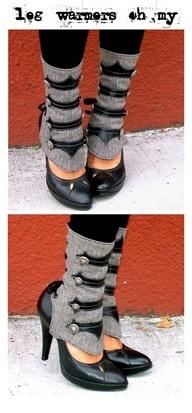 So cute, I would wear these: Idea, Fashion, Style, Legwarmers, Steam Punk, Legs, Steampunk, Leg Warmers