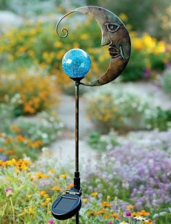 SOLAR BLUE MOON... to bring magic to your garden: Garden Ideas, Yard, Solar Lights, Garden Art, Outdoor, Gardens, Blue Moon