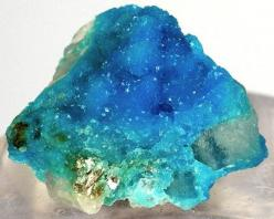 Sparkling blue turquoise crystals from Bishop Mine, Campbell County, Virginia, USA: Crystals Gems Minerals Rocks, Precious Stones, Crystals Minerals Gemstones, Gem Stones, Rocks Gems, Color, Rocks Minerals, Blue