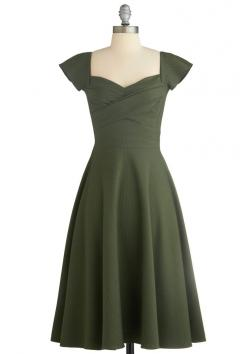 : Style, Color, Retro Vintage Dresses, Green Dress, Mod Retro, Pine, Modcloth Com